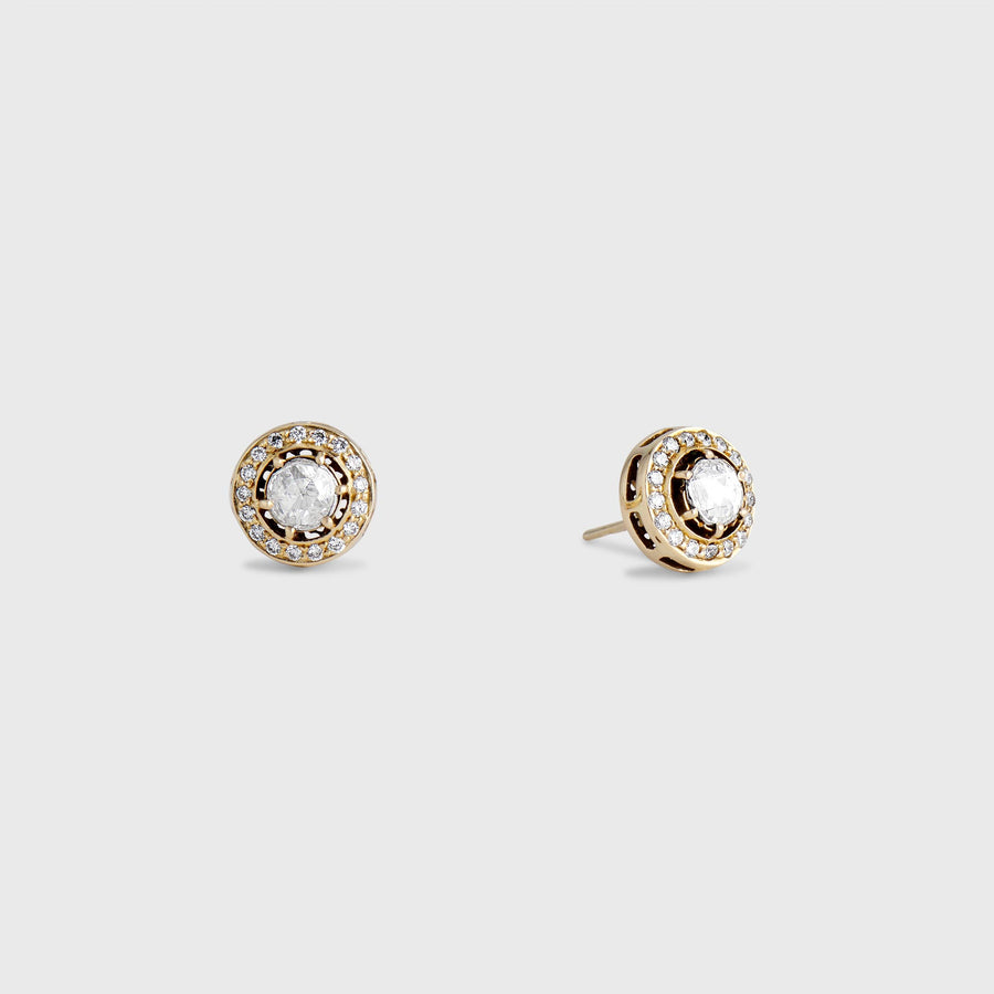 Abhay Diamond Stud Earrings