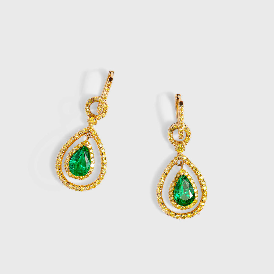 Ryka Emeralds Earrings