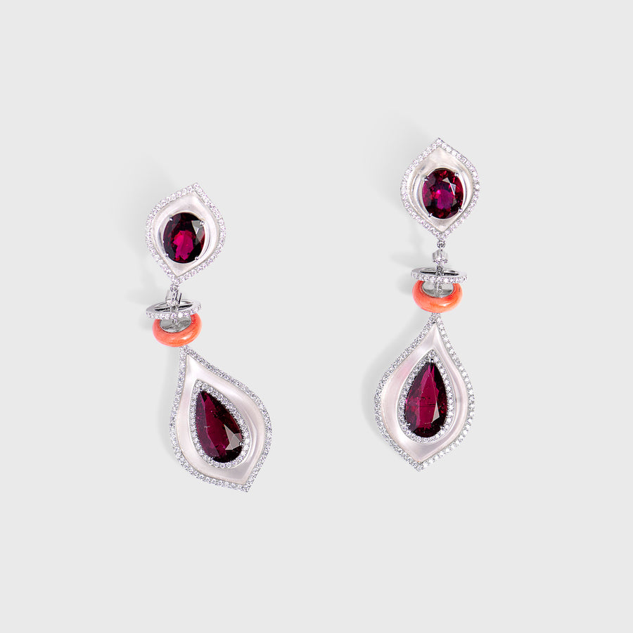 Zaara Rubellite Earrings