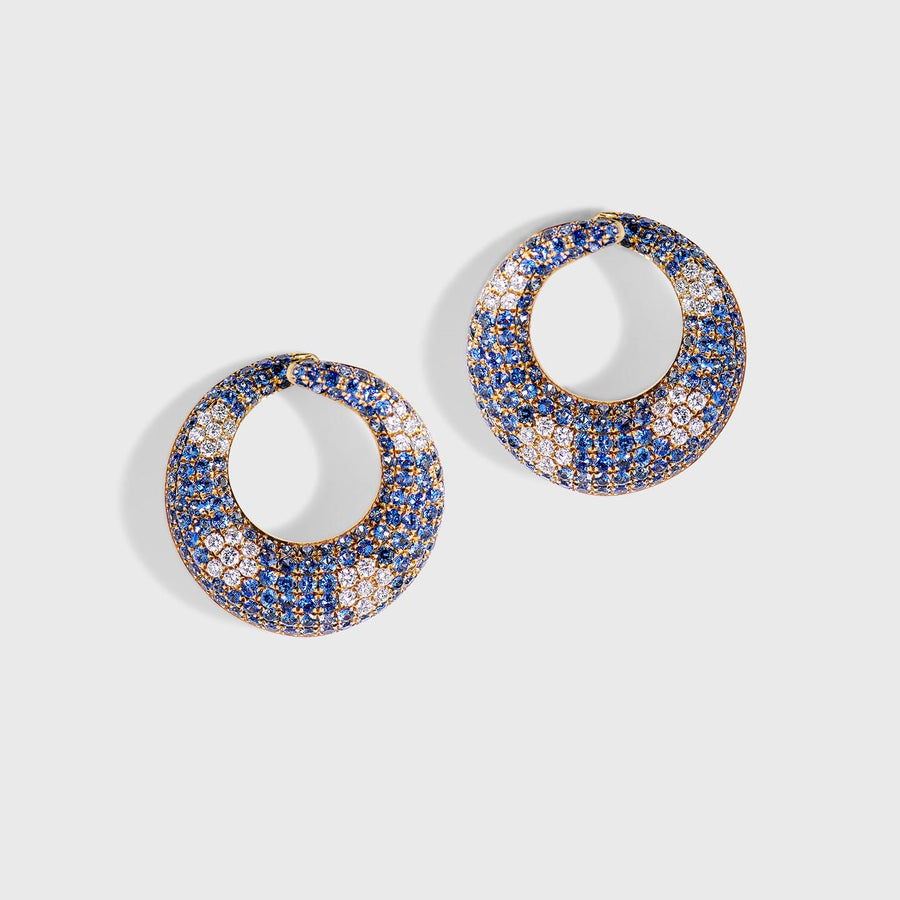 Nisha Diamonds and Sapphires Earrings