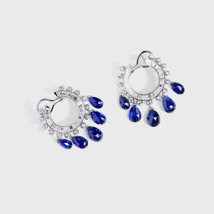 Jemisha Sapphires and Diamonds Earrings