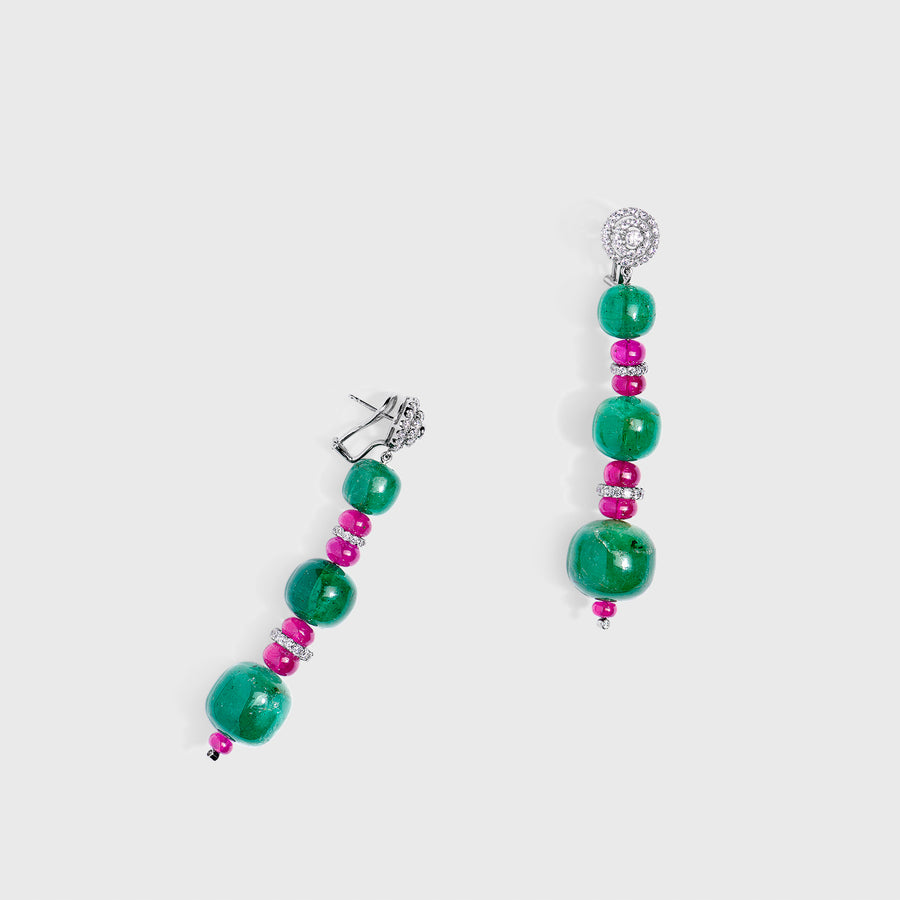 Aamani Emeralds and Rubies Set