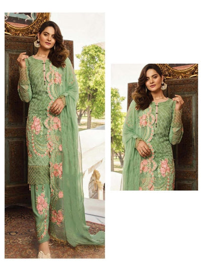 Light Green Party Wear Designer Dress 55006