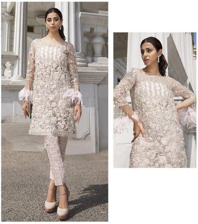 Organza with Heavy Embroidery Work Unstitched Pakistani Suits