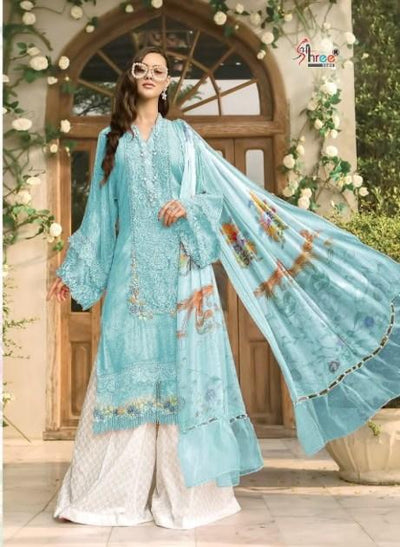 Blue Mariya B Lawn Super Hit Collection 1256