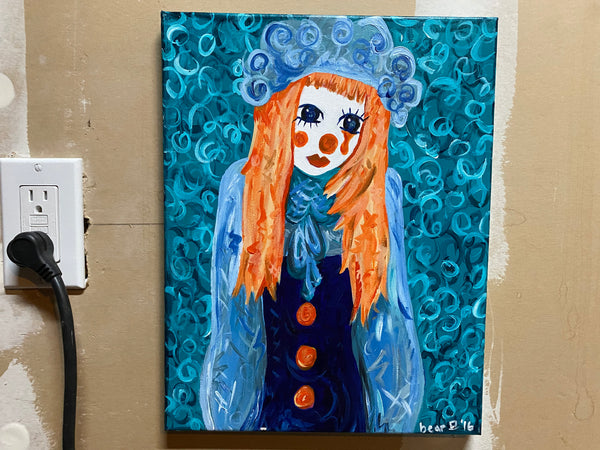 Sad Clown Original Acrylic Painting