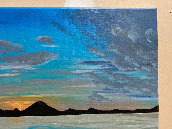Stars in the Sunset Original Acrylic Painting