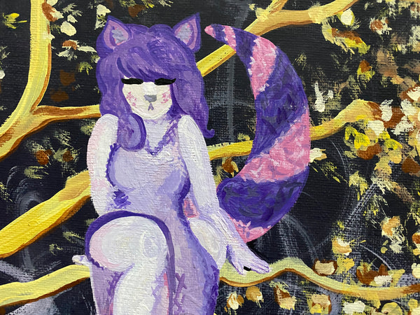 Cheshire Woman Original Acrylic Painting