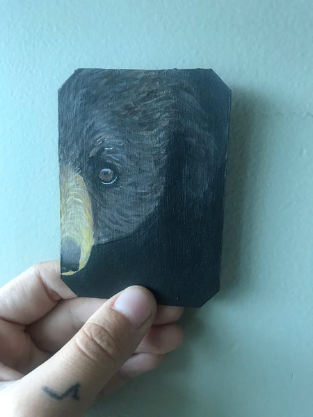 Little Bear Original Acrylic Card