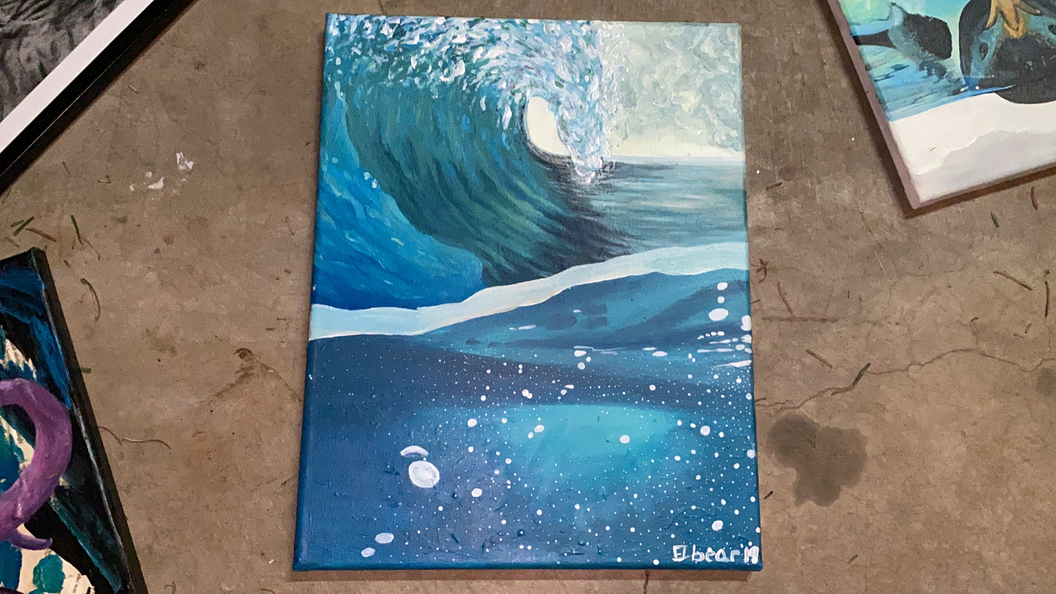 Wave Back Original Acrylic Painting