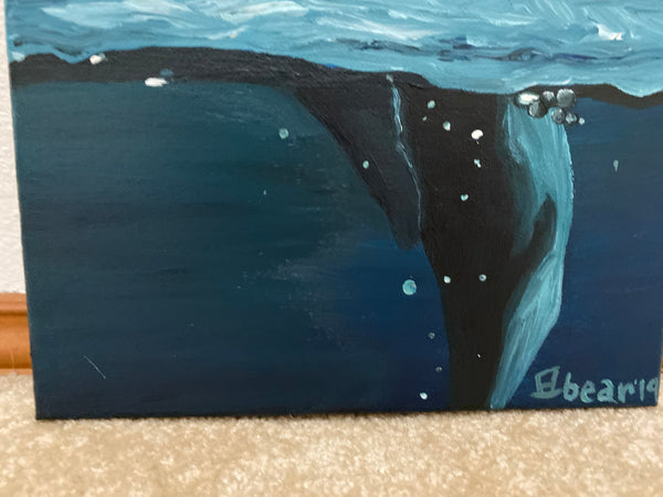 Whale of a Tail Original Acrylic Painting