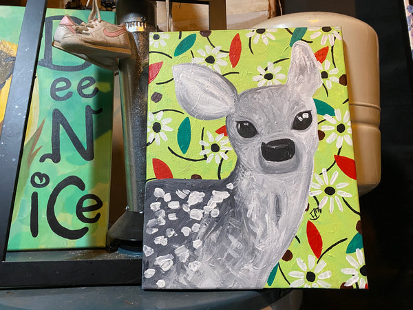 Oh, Deer Original Acrylic Painting