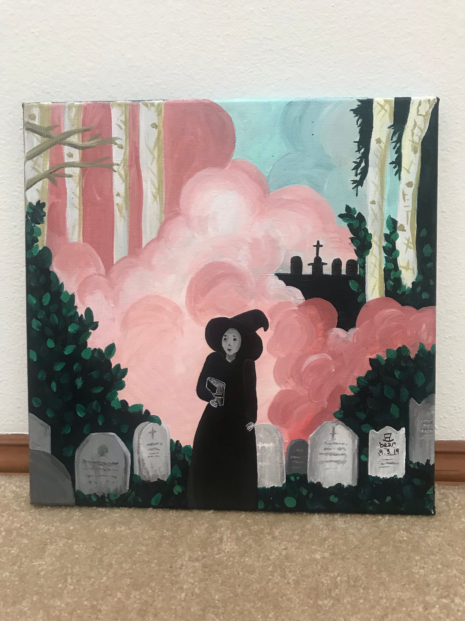 Witching Hour Original Acrylic Painting