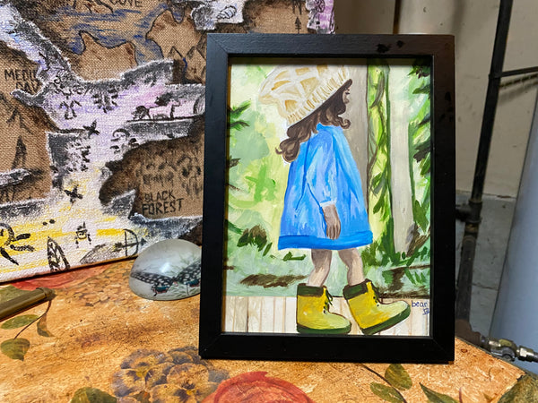Little Boots Original Watercolor Painting