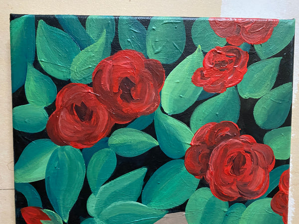 Rose Red Original Acrylic Painting
