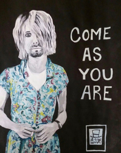 Come As You Are Original Framed Acrylic Painting