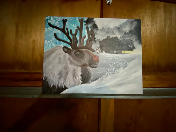 Fresh Snow Original Acrylic Painting