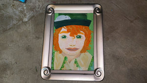 Freckles the Leprechaun Original Watercolor Painting