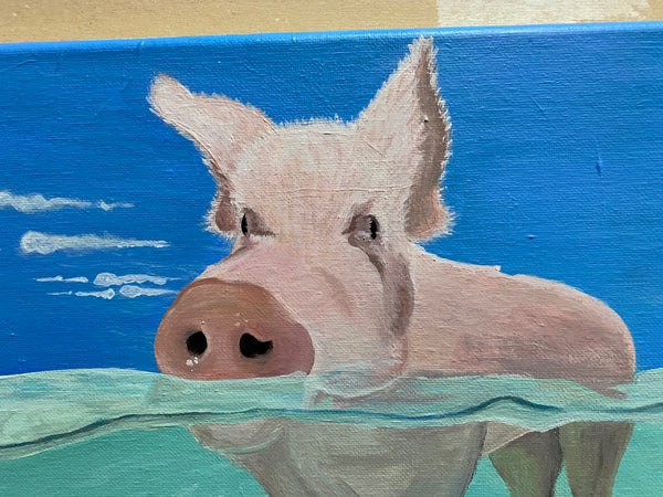 This Little Piggy Original Acrylic Painting
