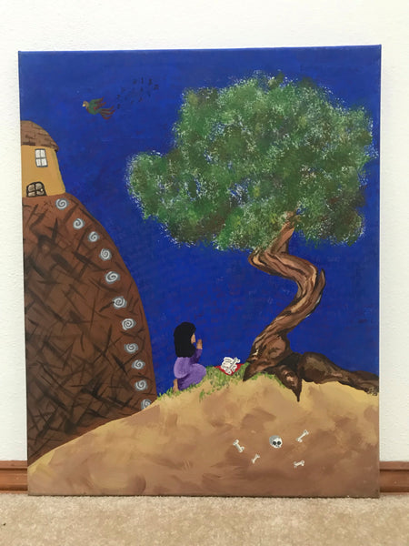 the Juniper Tree Original Acrylic Painting