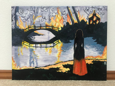What a Lovely Way to Burn Original Acrylic Painting