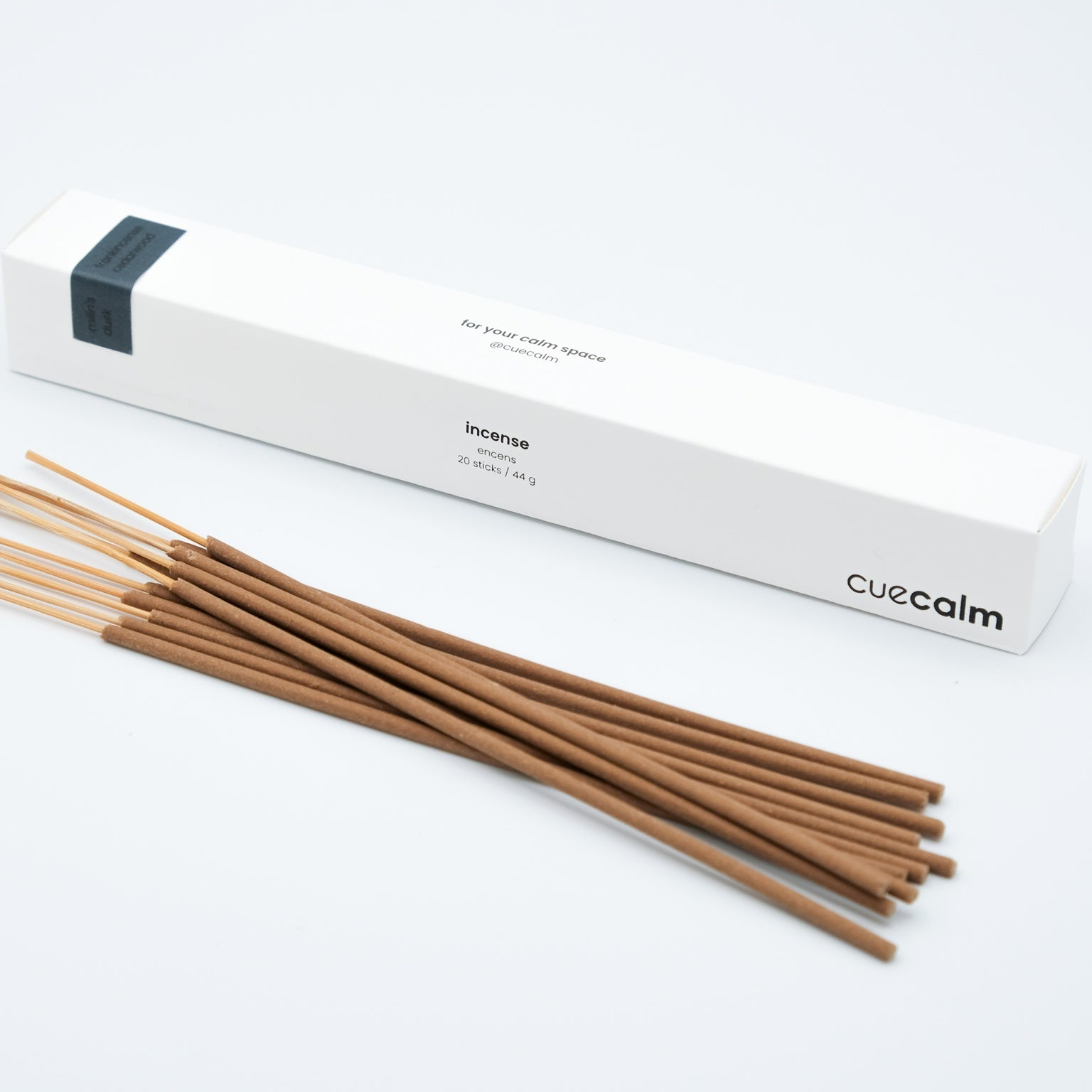 frankincense and cedarwood essential oils in hand-dipped incense. home fragrance canada.