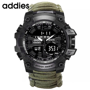 Addies Military Watch With Compass Men Tend  Waterproof Whistel Stopwatch Alarm Clock Sport Digital Wrist Watch Montre Homme - Shopgoggles