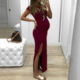 Envsoll Pregnancy Dresses Pregnant Women Maternity Dress Maternity Props Vestidos Dress Sexy Solid Summer Long Dresses - Shopgoggles