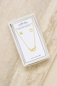 Hugs and Kisses Gold XO Necklace & Earring Stud - Shopgoggles