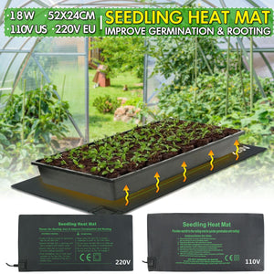 Seedling Heat Mat Plant Seed Germination Propagation Clone Starter Warm Pad Mat 24x52cm Vegetable Flowers Garden Tool Supplies - Shopgoggles