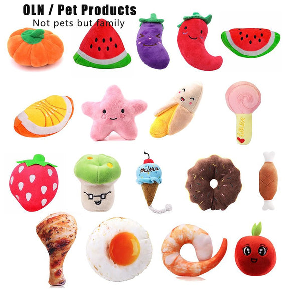 Animals Cartoon Dog Toys Stuffed Squeaking Pet Toy Cute Plush Puzzle for Dogs Cat Chew Squeaker Squeaky Toy for Pet - Shopgoggles