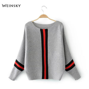 Weinsky Casual Style Women Knitted Sweater And Pullovers Full Sleeve Ladies Fashion Sweaters Female Winter And Autumn - Shopgoggles