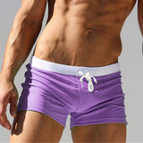 ALSOTO Summer Swimwear Men Breathable Men's Swimsuits Trunks Boxer Briefs Sunga SwimSuits Maillot De Bain Beach Shorts 2020 New - Shopgoggles