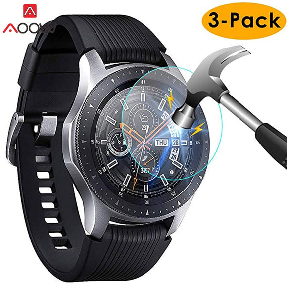 3pcs for Samsung Galaxy Watch 42mm 46mm Tempered Glass Screen Protector Protective Film Guard Anti Explosion Anti-shatter - Shopgoggles