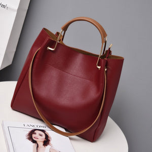 Leather Handbags Luxury Lady Hand Bags Women's  Messenger Bag Big Tote - Shopgoggles