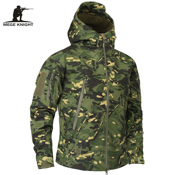 Mege Brand Clothing Autumn Men's Military Camouflage Fleece Jacket Army Tactical Clothing  Multicam Male Camouflage Windbreakers - Shopgoggles