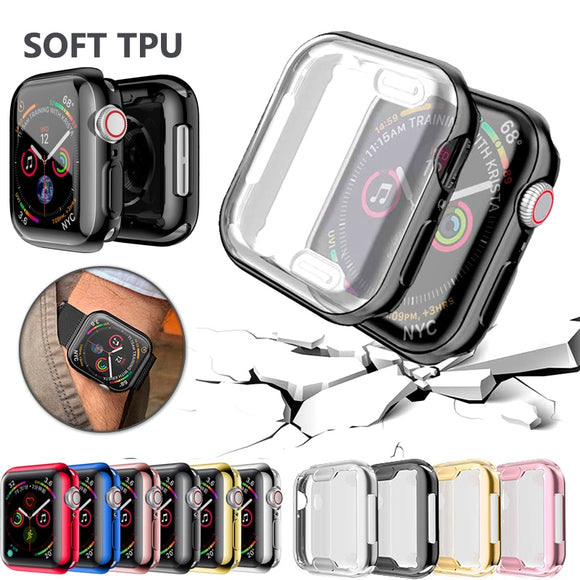 Watch Cover case For Apple Watch series 5 4 3 2 1 band case 42mm 38m 40mm 44mm Slim TPU case Protector for iWatch 4 44mm - Shopgoggles
