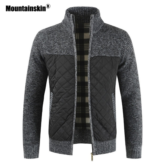 Mountainskin Men's Sweaters Autumn Winter Warm Knitted Sweater Jackets Cardigan Coats Male Clothing Casual Knitwear SA833 - Shopgoggles