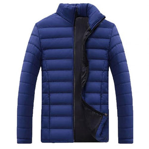 New Men Winter Warm Out Wear Large size men's long sleeve stand collar cotton business casual zipper warm cotton jacket - Shopgoggles