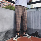 LAPPSTER Streetwear Yellow Plaid Pants Men Joggers 2020 Man Casual Straight Harem Pants Men Korean Hip Hop Track Pants Plus Size - Shopgoggles