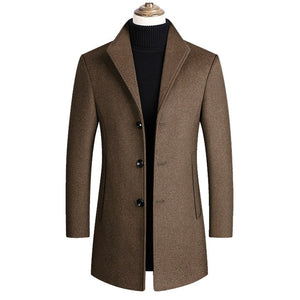 Mountainskin Men Wool Blends Coats Autumn Winter New Solid Color High Quality Men's Wool Jacket Luxurious Brand Clothing SA837 - Shopgoggles