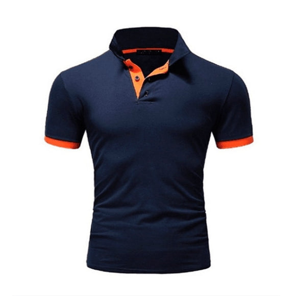 Summer short Sleeve Polo Shirt men Turn-over Collar fashion casual Slim Breathable Solid Color Business men's polo shirt - Shopgoggles