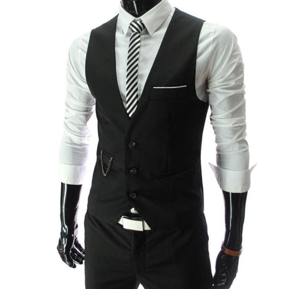 2020 New Arrival Dress Vests For Men Slim Fit Mens Suit Vest Male Waistcoat Gilet Homme Casual Sleeveless Formal Business Jacket - Shopgoggles