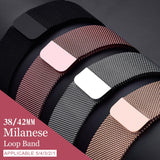 Milanese Loop For Apple Watch band strap 42mm 38mm for iwatch 5/4/3/2/1 44mm 40mm Stainless Steel Link Bracelet wrist watchband - Shopgoggles