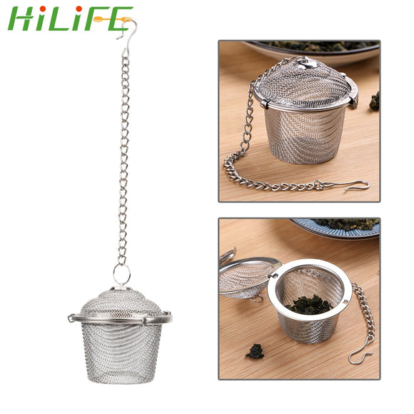 HILIFE Reusable Stainless Steel Teakettle Locking Tea Filter Seasoning Ball Multifunction Mesh Herbal Ball Tea Spice Strainer - Shopgoggles