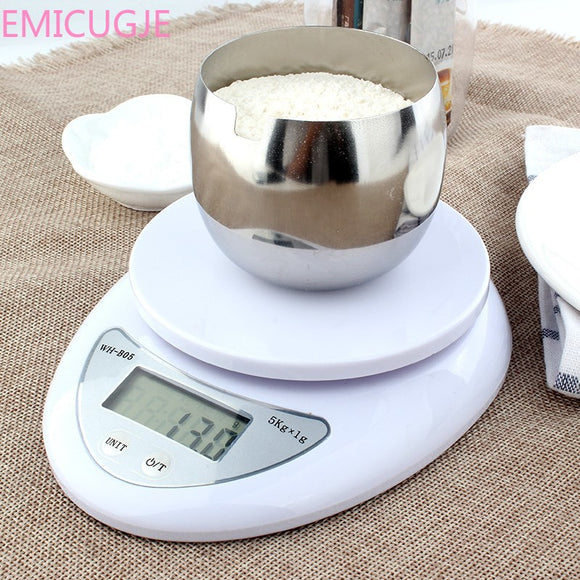 Kitchen 5000g/1g 5kg Food Diet Postal Kitchen Scales balance Measuring weighing scales LED electronic scales - Shopgoggles