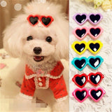 New Pet Lovely Heart Sunglasses Hairpins Pet Dog Bows Hair Clips for Puppy Dogs Cat Yorkie Teddy Pet Hair Decor Pet Supplies 1pc - Shopgoggles