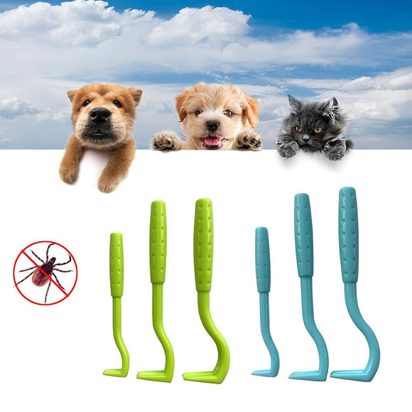 3PCS Pet Flea Remover Tool Scratching Hook Remover Pet Cat Dog Grooming Supplies Tick Picker Flea Removal Tool Pet Comb - Shopgoggles