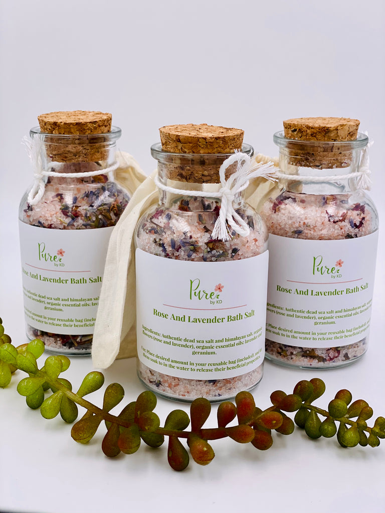 Rose and Lavender Bath Salt- Pure by KD
