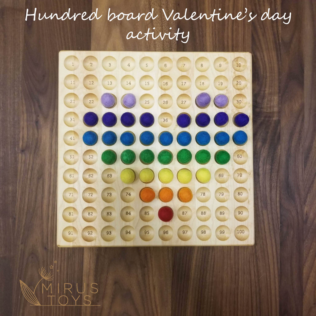 Hundred chart activity for Valentine's day | Hundred board activity #1
